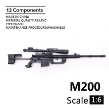Plastic Model-Accessories Display-Collection Rifle M200 Sniper Action-Figure Military