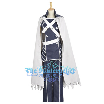 Awakening Chrome Battleframe Cosplay Costume Fire Emblem Custom Male Unifrom Long Pants White Cape Cloak Gloves Adult Clothing