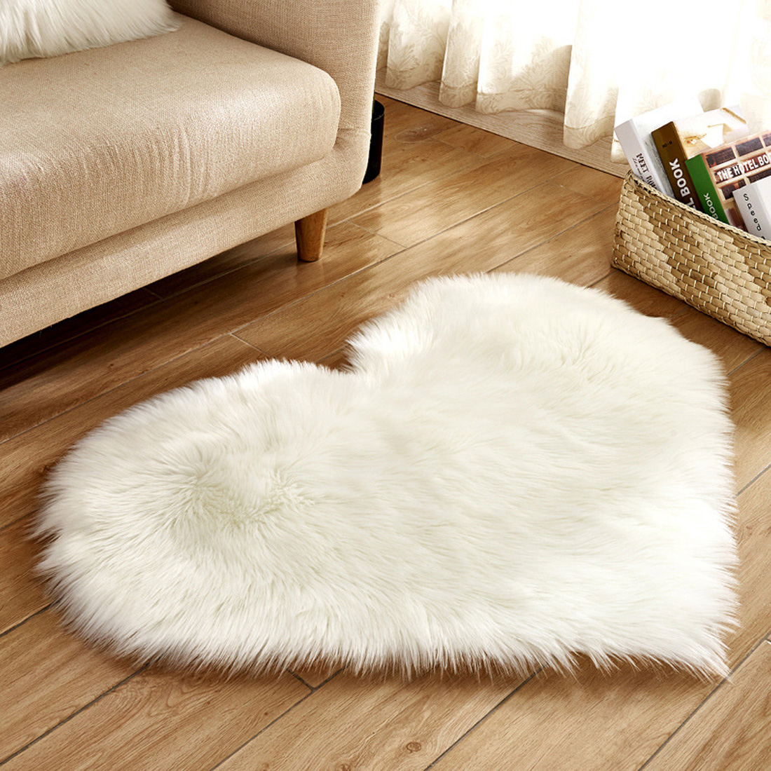 Mother & Kids Activity & Gear Baby Playmats Wool Imitation Sheepskin Rugs Faux Fur Bedroom Shaggy Carpet Window Mats Livingroom Decor Sofa Office Mats