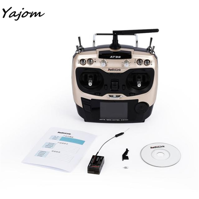 Free for shipping  Radiolink AT9S 2.4GHz 9Ch Radio Control Transmitter with R9DS RC Receiver Brand New High Quality May 3 niorfnio portable 0 6w fm transmitter mp3 broadcast radio transmitter for car meeting tour guide y4409b