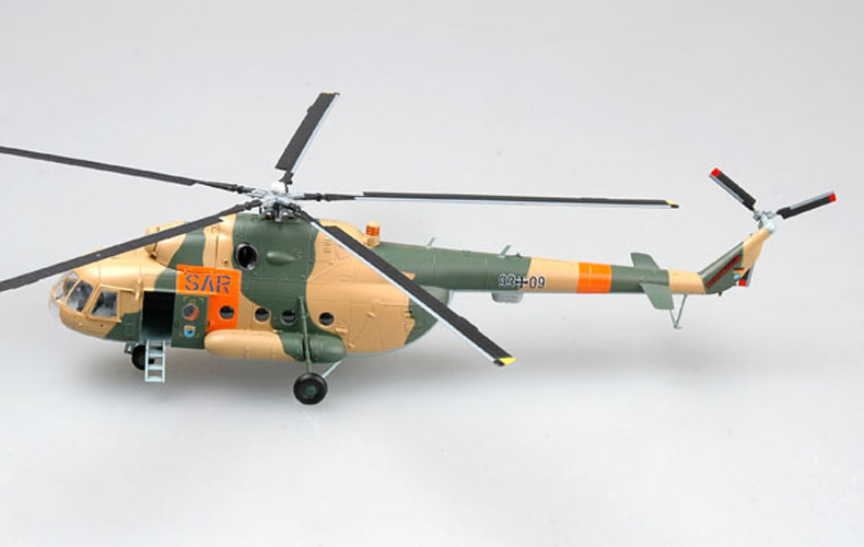 <font><b>Trumpet</b></font> <font><b>1</b></font><font><b>:</b></font><font><b>72</b></font> German army MI-8 Hippo helicopter 37044 finished product model image