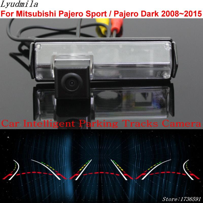 Lyudmila Car Intelligent Parking Tracks Camera FOR Mitsubishi Pajero Sport Pajero Dark 2008 2017 Car Reverse