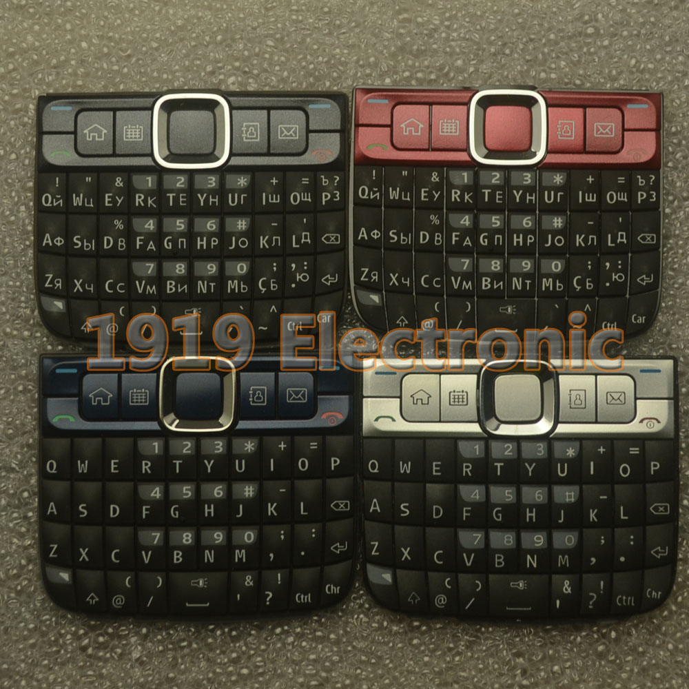 New Main Menu English Or Russian Keypad Keyboard Buttons Cover Case For Nokia E63