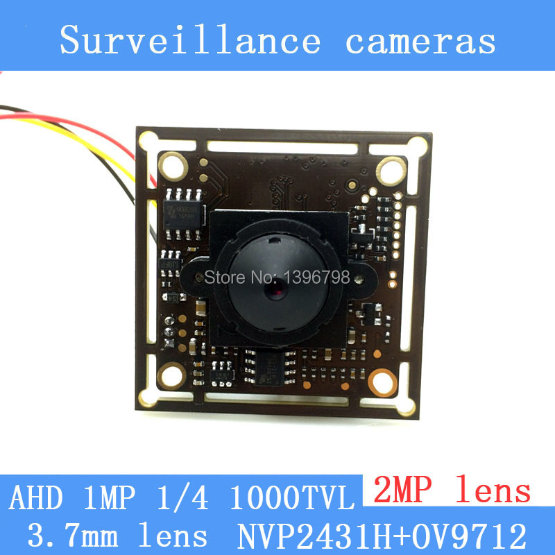 1MP Coaxial 1/4 CMOS NVP2431H + OV9712 chip AHD 1000TVL surveillance cameras Module night vision 2MP 3.7mm pinhole lens camera freeshipping rs232 to zigbee wireless module 1 6km cc2530 chip