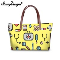 Noisydesigns Women Tote Bags Nurse Pattern Large Handbags for Female Luxury Shopping Bag Youth Girls Casual Bolsa Drop Shipping
