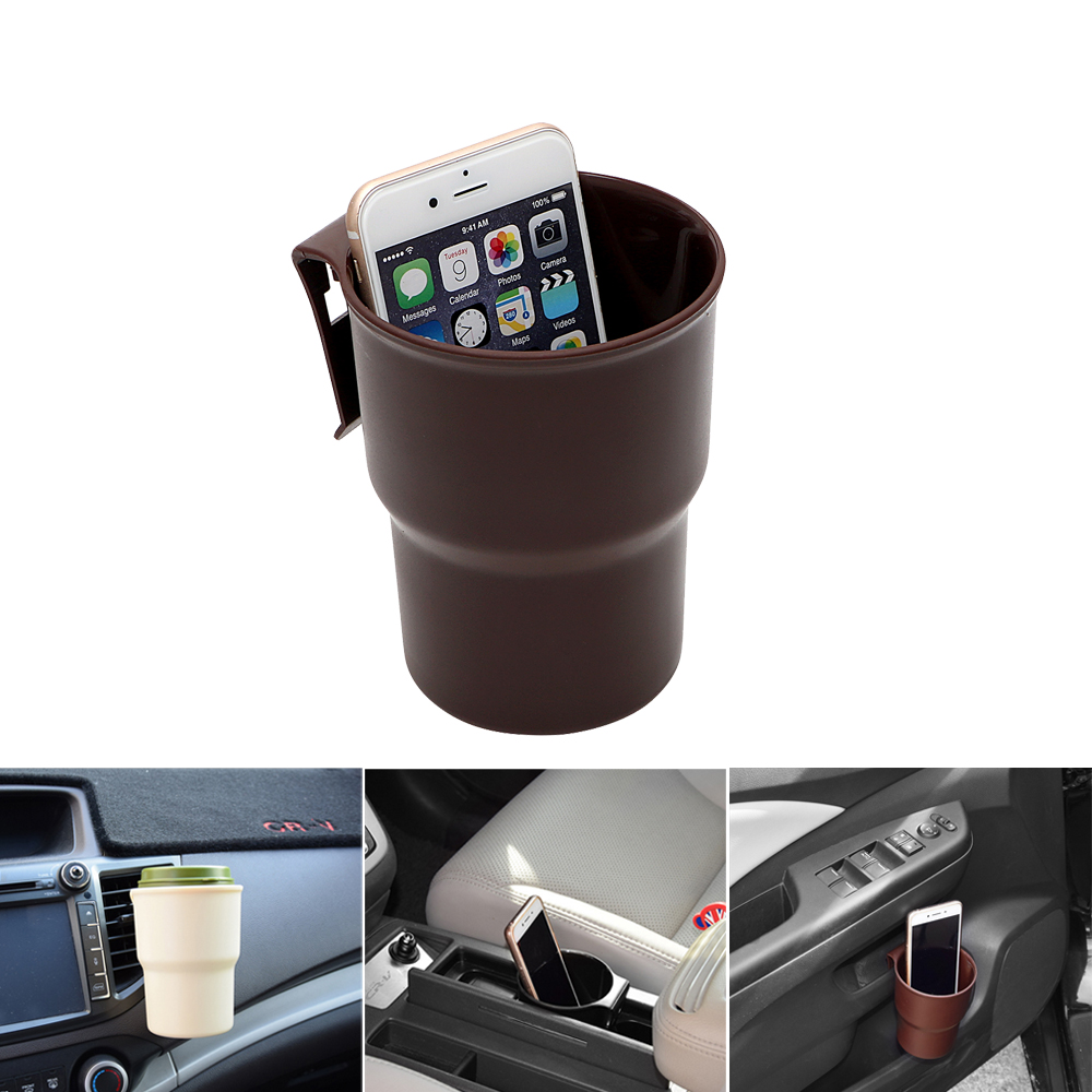 Vehicle Trash Container Car Phone Stand Car-styling Interior Accessories Air outlet Mount Door Armrest Box Drink Holder car swivel air outlet mount holder for htc one s black