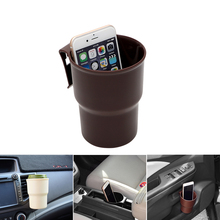 Vehicle Trash Container Car Phone Stand Car-styling Interior Accessories Air outlet Mount Door Armrest Box Drink Holder