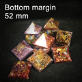 "52mm 2"" Handmade Orgone Pyramid Natural Crystal Art Craft Spiritual Science Orgonite Positive Energy Generator Accumulator"