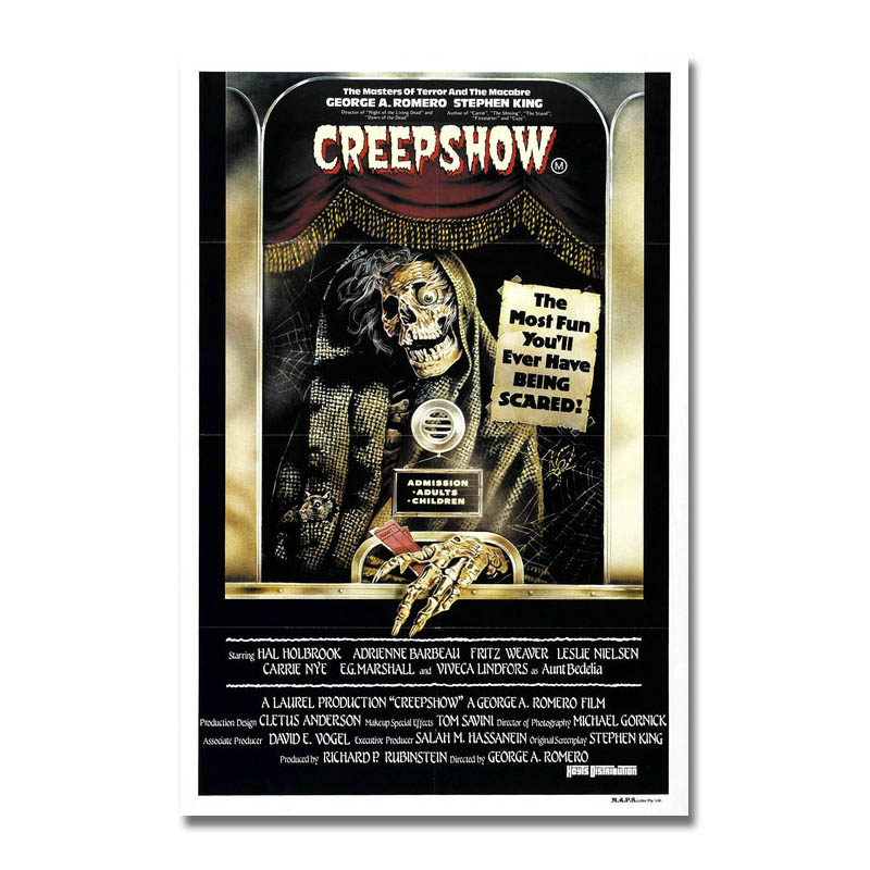 CREEPSHOW Movie Silk Fabric Poster Horror George Romero Stephen King Cult