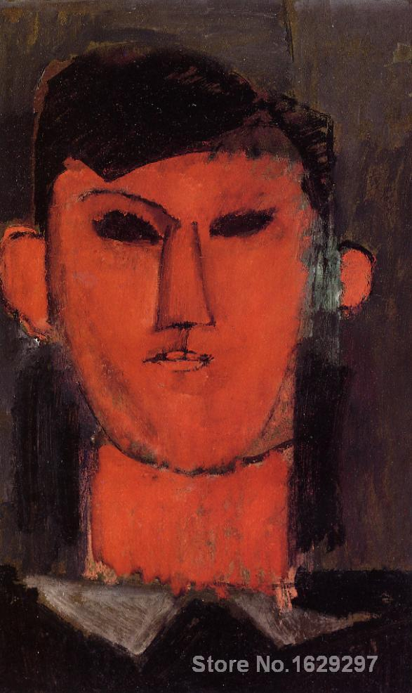 Portrait of Picasso by Amedeo Modigliani Canvas art Painting High quality Hand paintedPortrait of Picasso by Amedeo Modigliani Canvas art Painting High quality Hand painted
