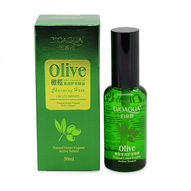 50 ml BIOAQUA marca multifuncional cuidado del cabello puro de oliva aceite de argán del pelo