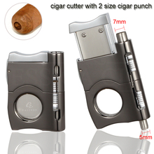 GALINER Metal Cigar Cutter Sharp Stainless Steel Puro Guillotine 2 Sizes Punch Scissors Cut COHIBA Cuba