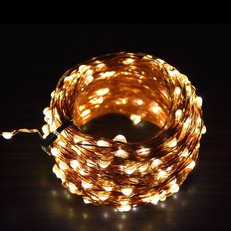③1X 8 Couleurs 10 M 100LED Fil De Cuivre LED Guirlande Lumineuse