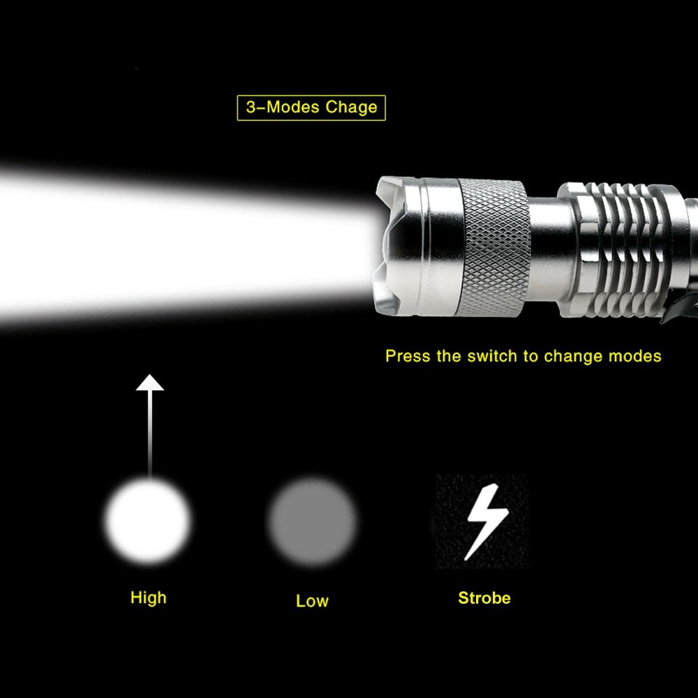 Мини-фонарик с регулируемым фокусом CREE Q5 2000 люмен светодиодный фонарь AA 14500 фонарь Linterna светодиодный с креплением