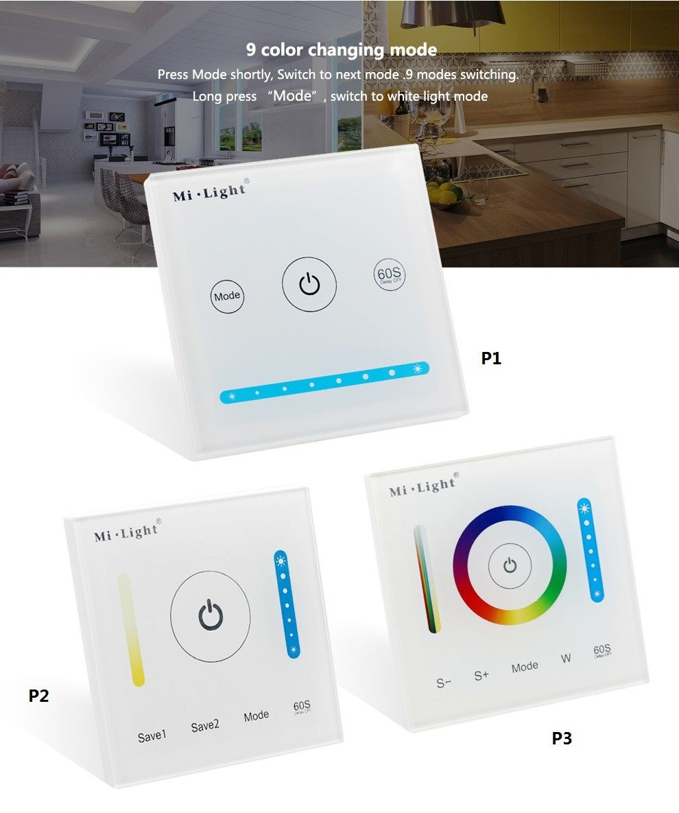 цена на Mi light RGBW Dimming Panel/ Color Temperature CCT Touch Switch Panel Controller