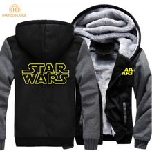 где купить New Arrival Star Wars Fashion Mens Hoodie 2019 Spring Winter Warm Sweatshirt Men Thick Zipper Hoodies Men's Jacket Brand Hoody по лучшей цене