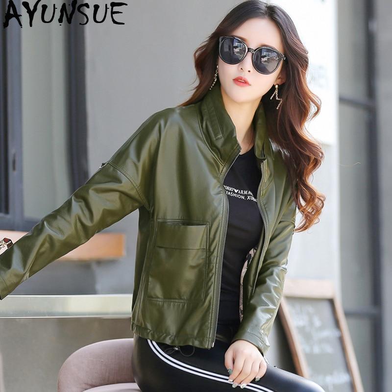 Haus & Garten WunderschöNen Ayunsue 2018 Herbst Leder Jacke Neue Ankunft Kurze Koreanische Mantel Frauen Faux Leder Jacken Für Frauen Chaqueta Cuero Mujer Kj744