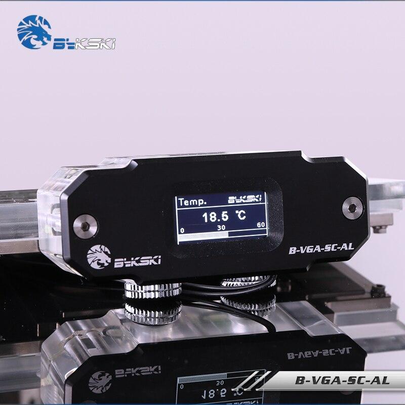 BYKSKI OLED Digital Display Water Temperature Meter Use For GPU Block Adapter Add In Radiator G1/4'' Thermometer Sensor Fitting