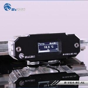 Image 1 - BYKSKI OLED תצוגה דיגיטלית טמפרטורת מים מד להשתמש עבור GPU בלוק מתאם להוסיף ברדיאטור G1/4 מדחום חיישן הולם