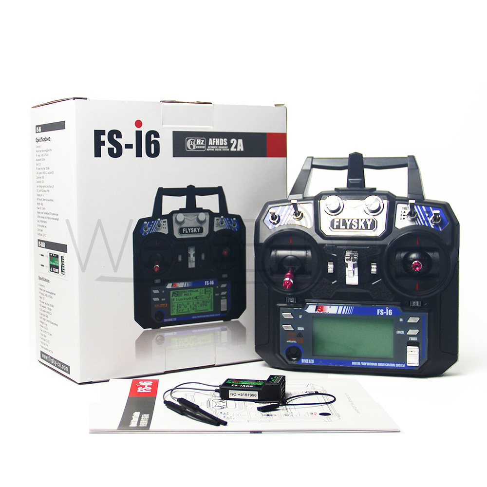 Most Popular Flysky FS i6 with FS iA6B Receiver 2 4G 6ch Transitter Controller For RC