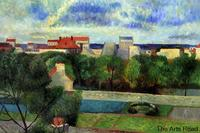 The Market Gardens of Vaugirard, 1879 by Paul Gauguin Wall Painting for Living Room Landscape Art 100% Hand Painted