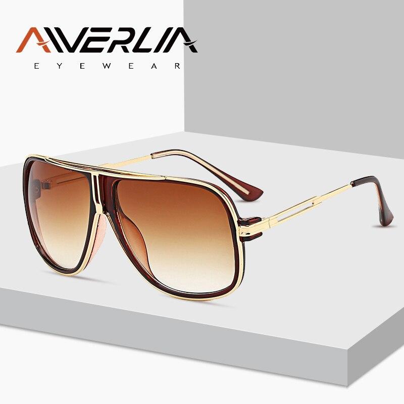 AIVERLIA chaude classique lunettes de soleil hommes femmes lunettes de soleil carré nuances mâle Vintage marque concepteur unisexe Oculos Gafas de sol AI15