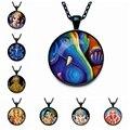 Amuleto de la suerte Del Elefante Indio Cabeza Dios Ganesh Amuleto de La Joyería Cabochon de Cristal Colgante Cadena Gargantilla Collar Negro Lindo Regalo de La Familia