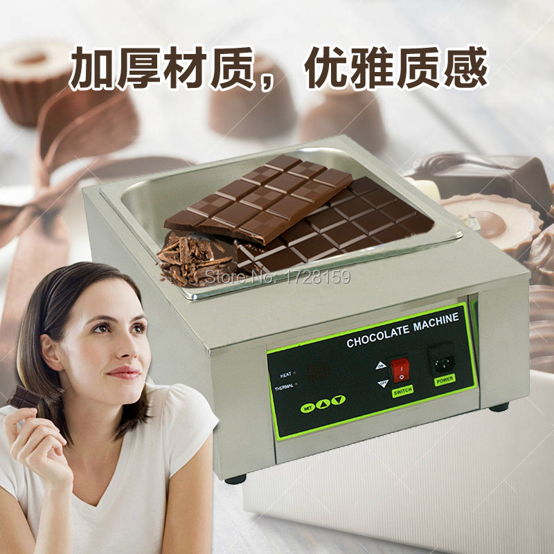 Stainless steel Commercial110v 220v  8.5kgs capacity Electric chocolate melting machine,melting chocolate machine+ Free Shipping fast shipping food machine digital chocolate melting machine stainless steel chocolate machine household and commercial