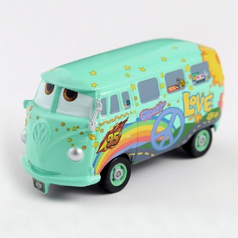 Disney Cars 3 Pixar Cars 1st Movie Original Fillmore Metal Diecast Toy Car 1:55 Lightning McQueen Boy Gift Girl Free Shipping