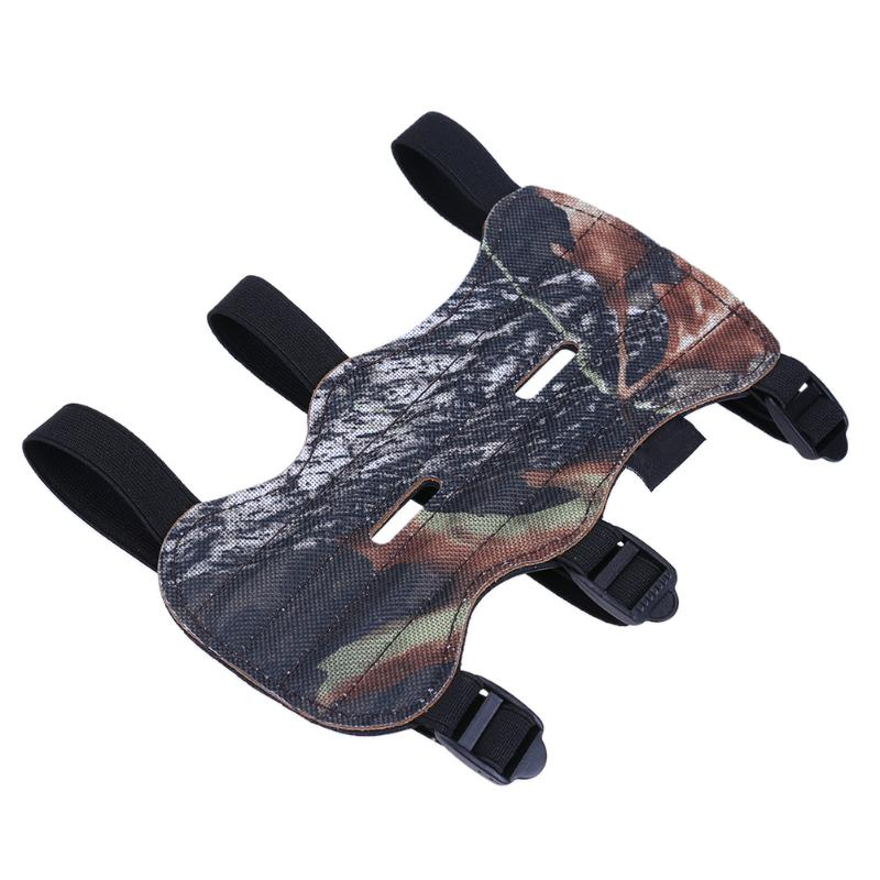 Archery Arrow Shooting Three Straps Double Holes Armguards Camo Armguards Sports Running Cycling Sleeves Arm Warmers Protectors