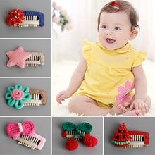 Korea Baby Hair Accessories Watermelon Cherry Flower Star Crystal Pearl Clip Headband Cotton Bows Hairpins