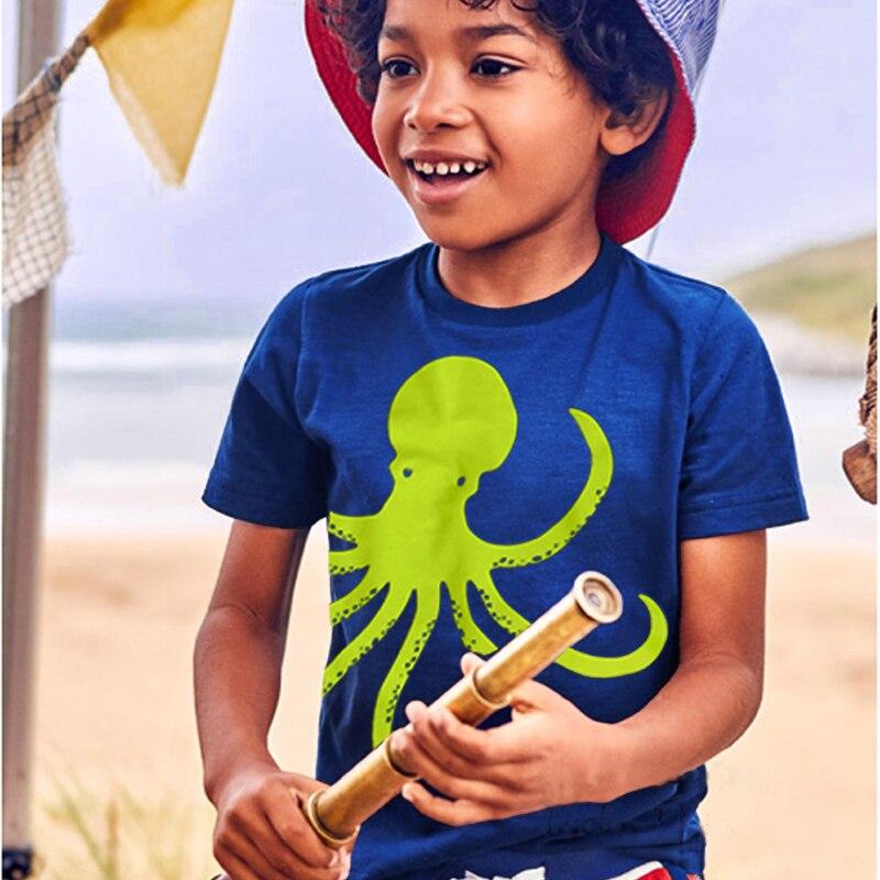 2018 модная детская одежда для мальчиков и девочек футболки Летний стиль топы, одежда для детей милый малыш футболки костюмы 18 24 м 2 3 4 5 т