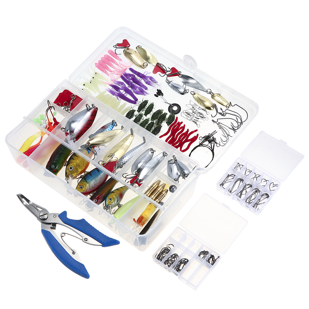 Image 3 - 73/101/132/232Pcs Fishing Lures Set Mixed Minnow Piler Spoon Hooks Fish Lure Kit In Box Isca Artificial Bait Fishing Gear Pescalure kitfishing lure setfishing lure -
