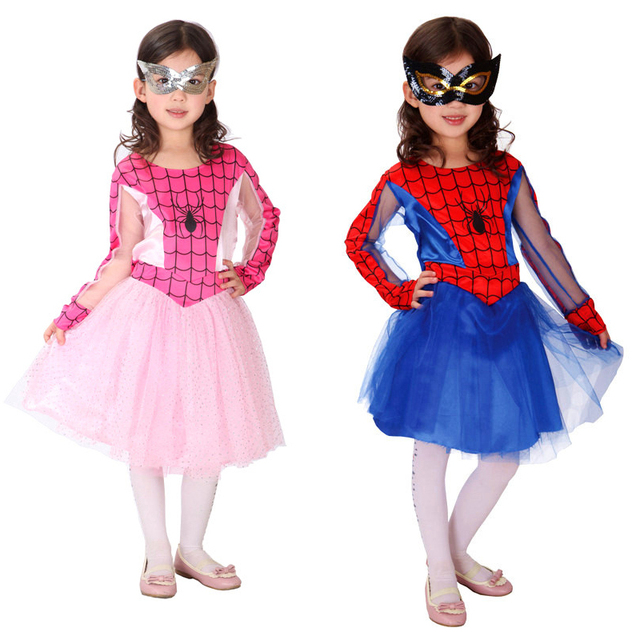 Spider Girl Costumes Children Spiderman Cosplay Dance Dress Christmas Costume for Kids Halloween Fancy Masquerade Party Clothing