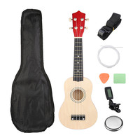 Zebra Guitar Combo 21 Soprano Ukulele Uke Hawaii Bass Guitar Guitarra Musical Instrument Set Kits Tuner