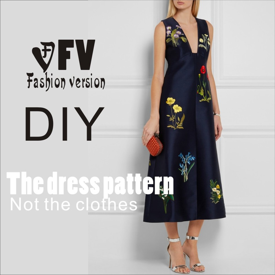 Dresses Sewing Pattern Template  Cutting Drawing Clothing DIY ((Not Selling Clothes))  BLQ- 238