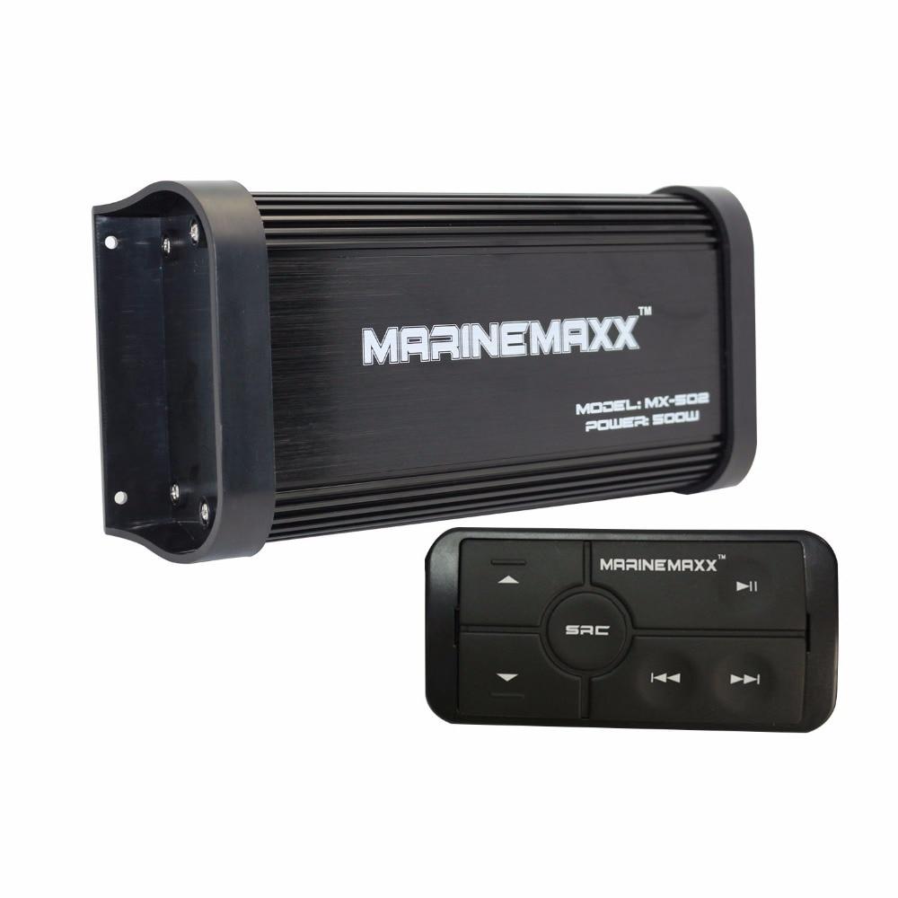 Усилитель мотоцикла Автомобиль Bluetooth Audio Водонепроницаемая система звукозаписи лодки Морское USB-зарядное устройство MP3-плеер AUX BT4.0 Потоково...