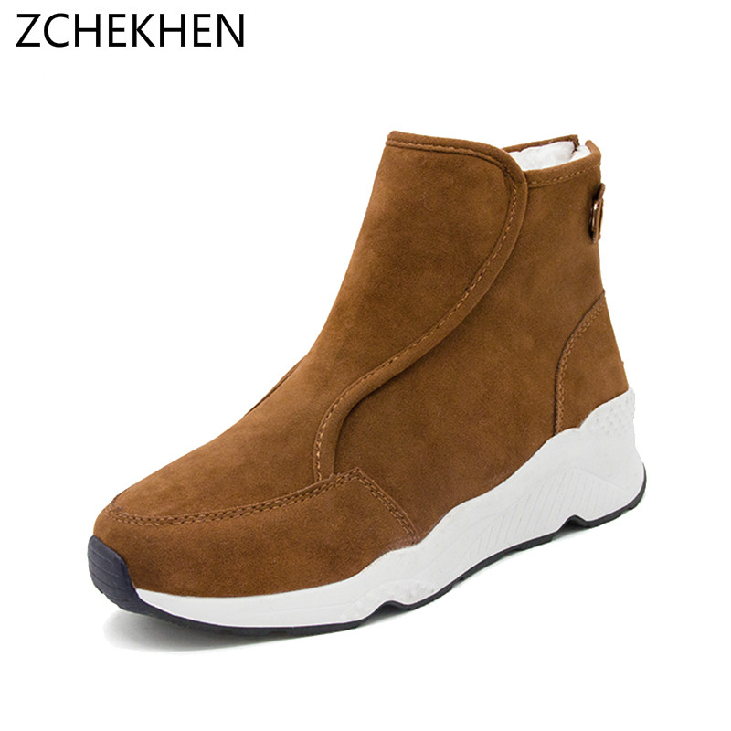 Women Boots Winter Warm Snow Boots Women Botas Mujer Slip on Fur Ankle Boots Ladies Winter Women Shoes women boots female down non slip non slip water winter boots fringe ankle snow boots ladies shoes woman warm fur botas mujer
