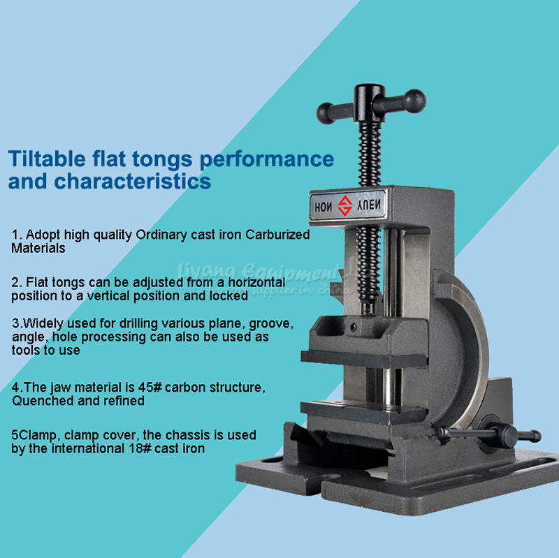 Guide rod type tilting angle vice 0 90 degree tilt 3 inch drilling ...
