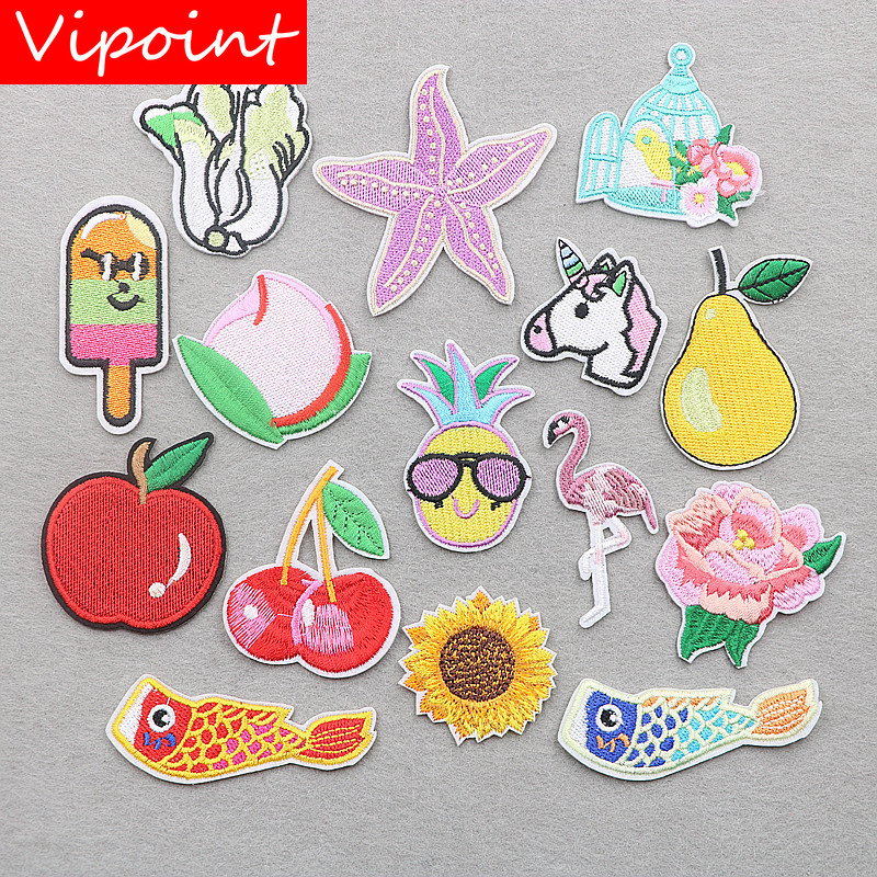 VIPOINT embroidery fruits patches vegetables badges applique for clothing XW-133