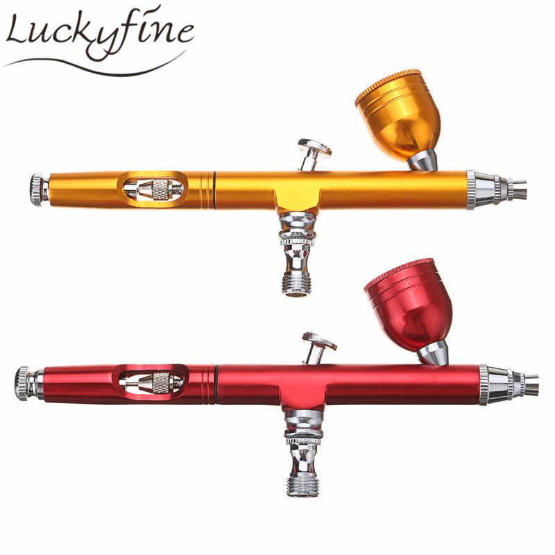 0.3mm Çift Eylem Airbrush sprey kalem 7CC Hava Fırça Püskürtme Kiti Geçici Dövme vücut Boya Tırnak Sanat Kozmetik Makyaj Aracı