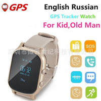 Baby Gold GPS Tracker Watch For Kids Swim Touch Screen SOS Emergency Call Location Smart Watch Devices For Smart Phone App F16