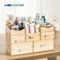 Organizador De baño HECARE Organizador De madera Organizador De Batom para accesorios De baño cosméticos conjunto De organización De almacenamiento nuevo