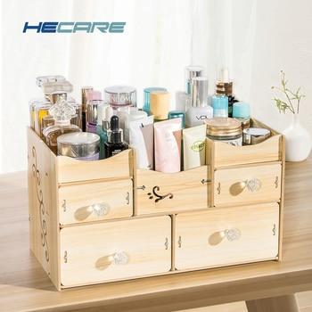 HECARE Bad Organizer Holz Organizador De Batom Organizer für Kosmetik Badezimmer Zubehör Set Lagerung Organisation Neue