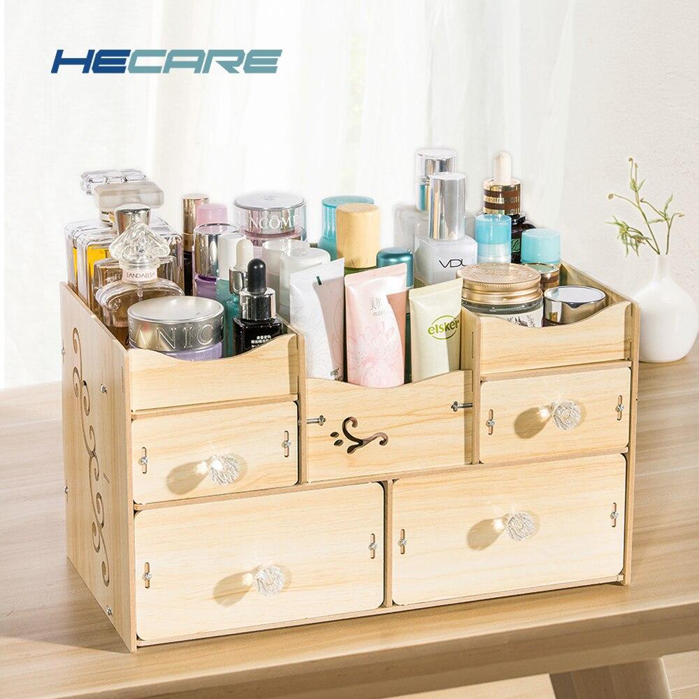 HECARE Bagno Organizer Organizador De Batom Organizzatore per Cosmetici Accessori Per il Bagno In Legno Set di Stoccaggio Organizzazione Nuovo