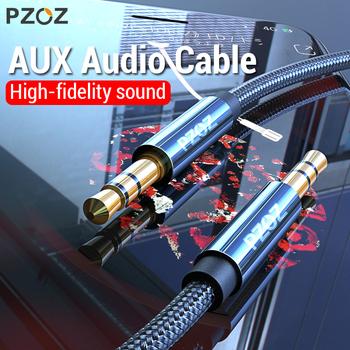 PZOZ przewód aux Jack 3 5mm kabel Audio Jack 3 5mm głośnik kabel do xiaomi Redmi Note 5 plus Oneplus 5t słuchawki samochodu przewód aux tanie i dobre opinie Telefon Komputer MP3 Mp4 Mężczyzna Mężczyzna AUX Kable 3 5mm Aux Cable Karton AUX Cables Brak Hi-Fi 3 5mm audio cable