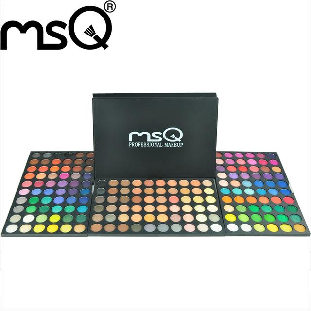 Msq marca 180 cores shimmer compõem ferramentas kit de cosméticos beauty eyeshadow palette para mulher da moda no atacado