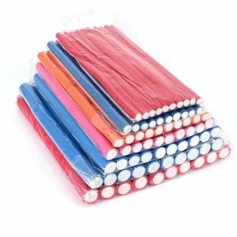 10pcs Soft Foam Sponge DIY Styling Hair Rollers Flexible Curler Bendy Curls Tool Random Color Karachi