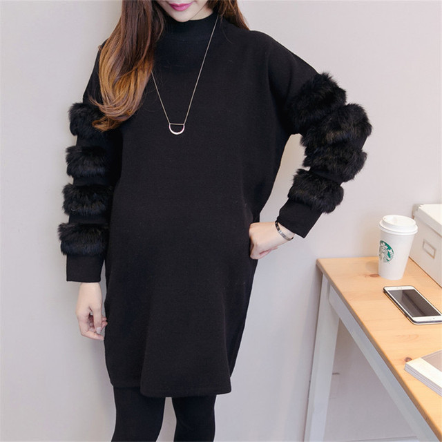 Maternity Coats Autumn Winter Fashion Pregnant Women Sweater Loose Thicken Clothes Outwear Clothes for Pregnancy Jacket