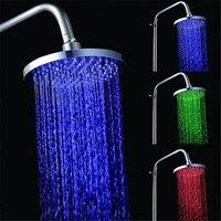 8 INCH Round LED Shower Head Led Rainfall Shower Rain Shower